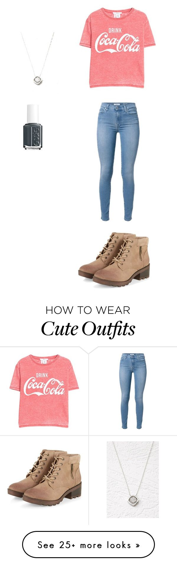 """""""Cute fall outfit"""" by princessrena on Polyvore featuring Forever 21, Essie and MANGO"""