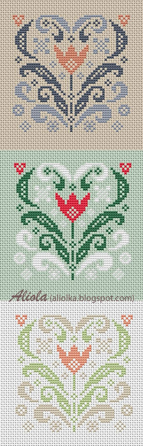 Pretty Tulips #CrossStitch