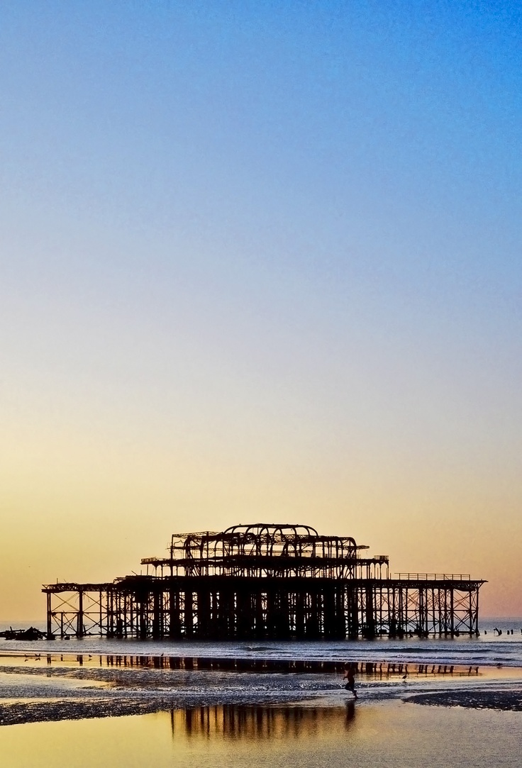 West pier at dawn, Brighton.