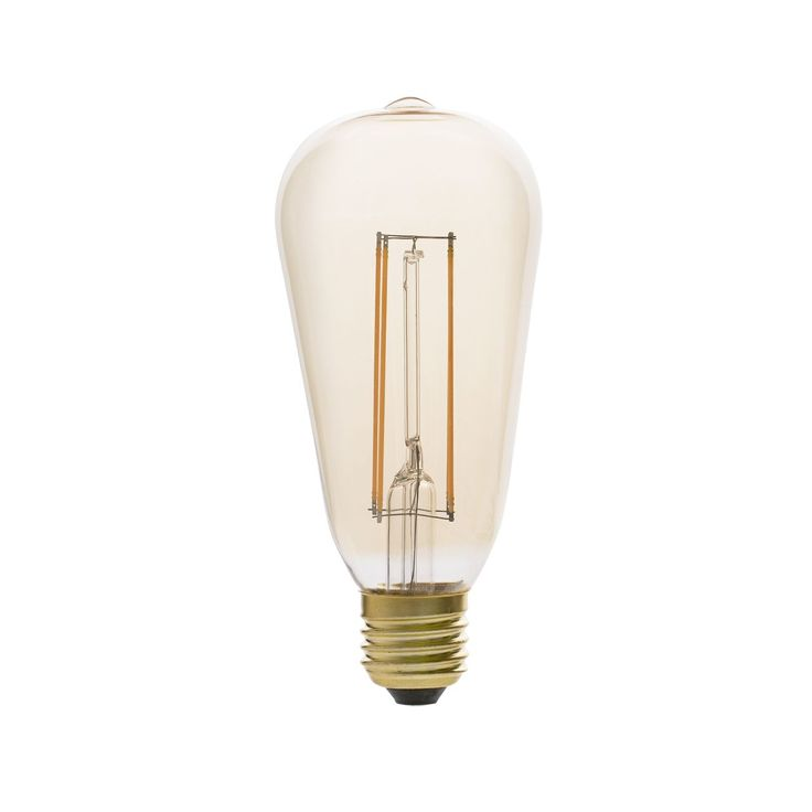 Bombilla rústica con filamento de LED #bombillas #filamento #rustico #retro #vintage #decoracion #interiorismo #iluminacion #lamparas #led
