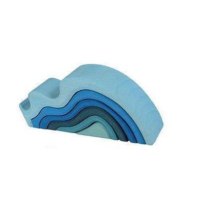 Grimms Waterwaves wooden puzzle inspired by the teachings of Rudolf Steiner. Hand-finished with special non-toxic & water-based dyes providing distinctive colours & shades, & then treated with pure vegetable.