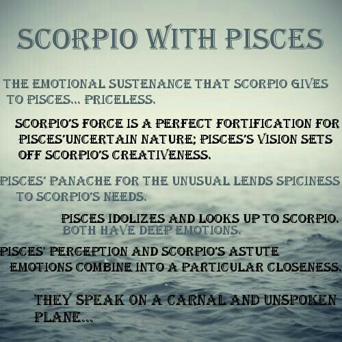 Scorpio man and pisces woman love