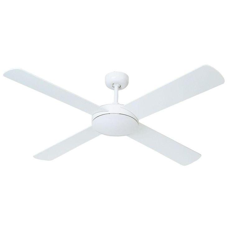 If we ever need a ceiling fan...Hampton Bay Futura Eco 52 in. White Ceiling Fan (exquisitedepot.com)