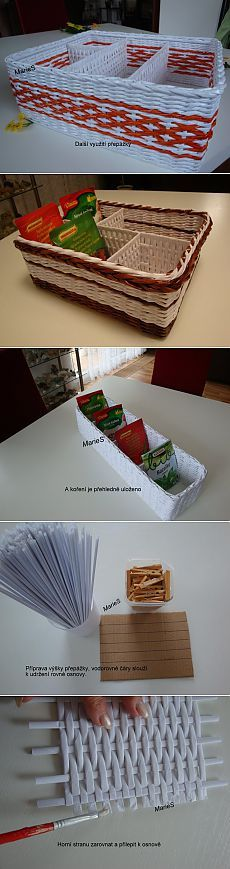 Как сделать коробочку с перегородками: плетение из бумажных трубочек   Умелые ручки