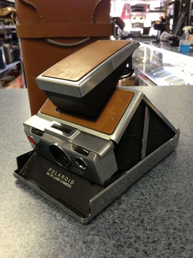 Polaroid SX 70 Alpha 1 Instant Film Camera W/ Original SX-70 Brown Leather Case #Polaroid