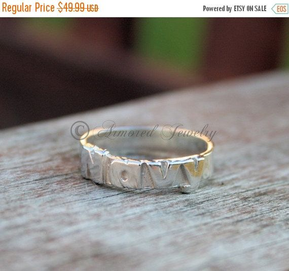 HOLIDAY SALE Sterling Silver US Navy Ring  by ArmoredJewelry