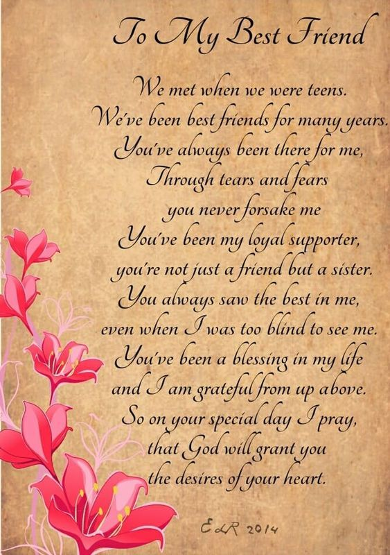 Happy Birthday Quotes Best Friend Girl: Best Bday Poem For Friend On Imgs
