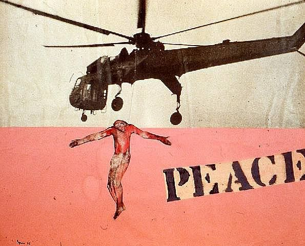 Nancy Spero - Peace, Helicopter and Hanging Christ