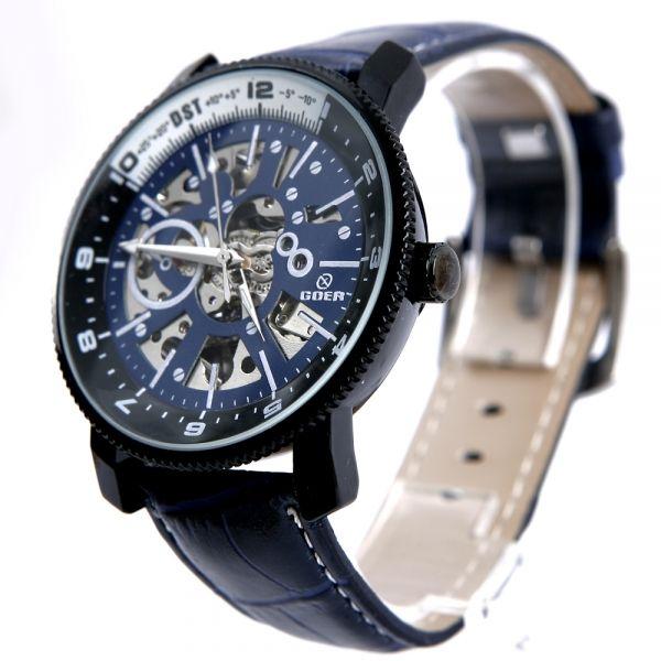 Ceas barbati Goer Aviator Blue Automatic  www.crystalglamour.ro 0727 48 48 48