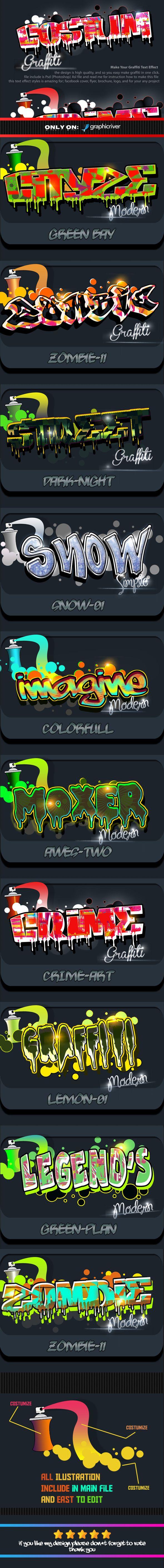 Costum Graffiti Text Effect Styles. Download here: http://graphicriver.net/item/costum-graffiti-text-effect-styles-vol-2/14403480?ref=ksioks
