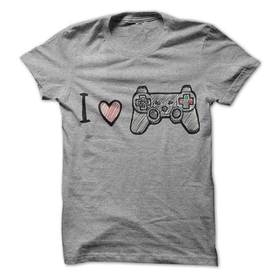 I Love Play Station T Shirts, Hoodies, Sweatshirts. CHECK PRICE ==► https://www.sunfrog.com/Gamer/I-Love-Play-Station.html?41382