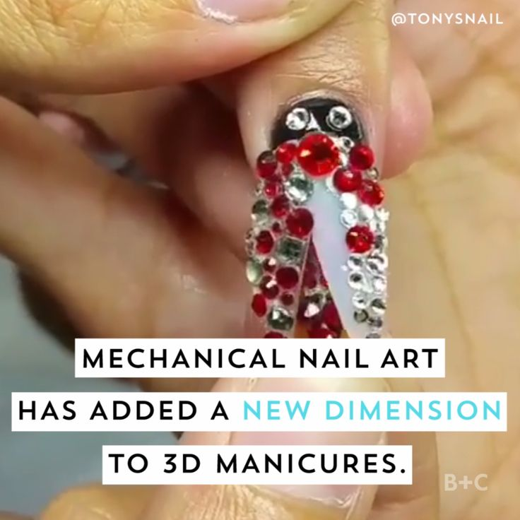 How amazing are these next level moving mechanical nail art ideas, adding a 3D e…