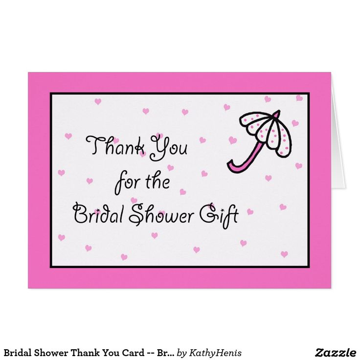 bridal shower thank you card bridal umbrella