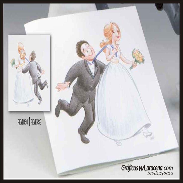 Invitación boda divertida....