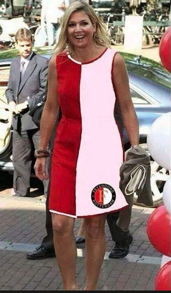Koningin Maxima in een Feyenoord-dress, like?