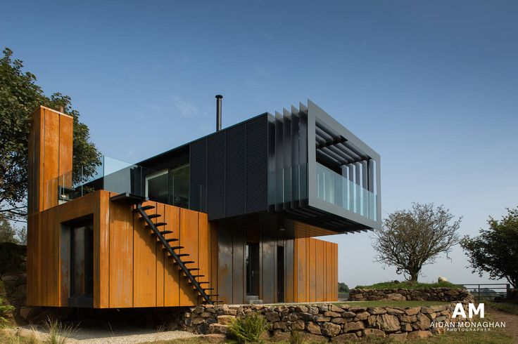 Patrick Bradleys container home, made from 4 metal shipping containers and featured on UK's Channel 4 Grand Designs TV programme
