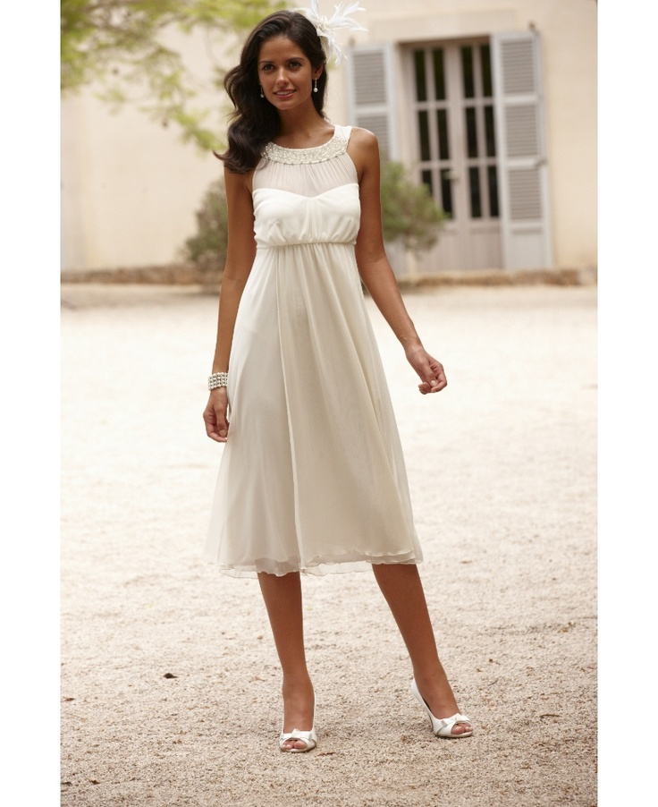 "Joanna Hope Pearl Trim Dress Court house ""quickie Wedding"
