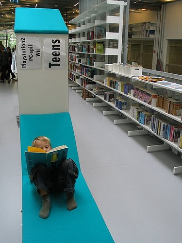 Combined public and school library in Ordrup north of Copenhagen.