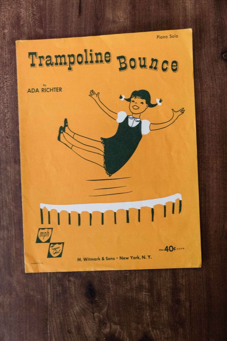 Trampoline Bounce Sheet Music | Ada Richter | Piano Solo | Piano Recital | Music Gift | Piano Player | Song Book | Children's Music | Piano by SecondsByJaneElaine on Etsy
