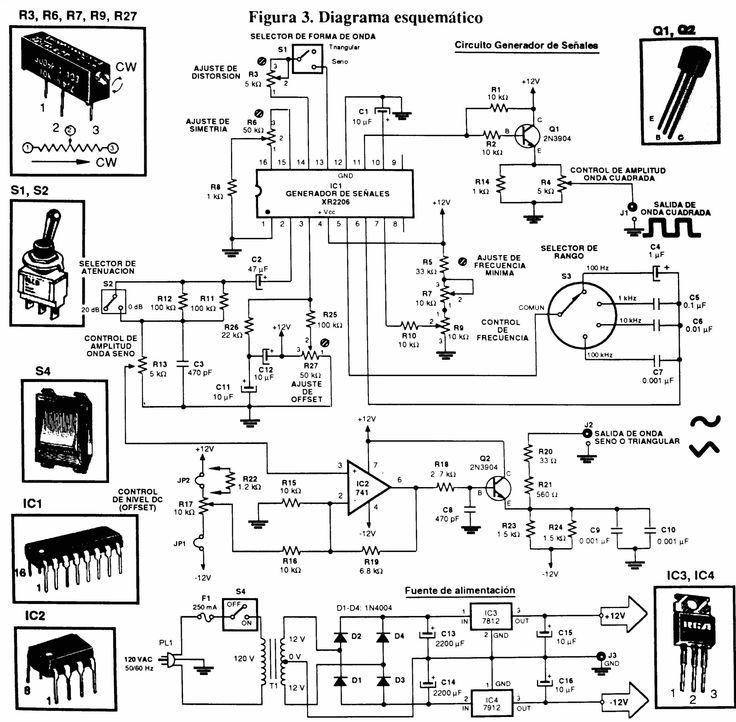 circuito generador de ondas con xr2206