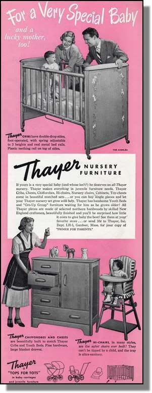 1950 Thayer Baby Cribs & Furniture Photo-Ad | eBay