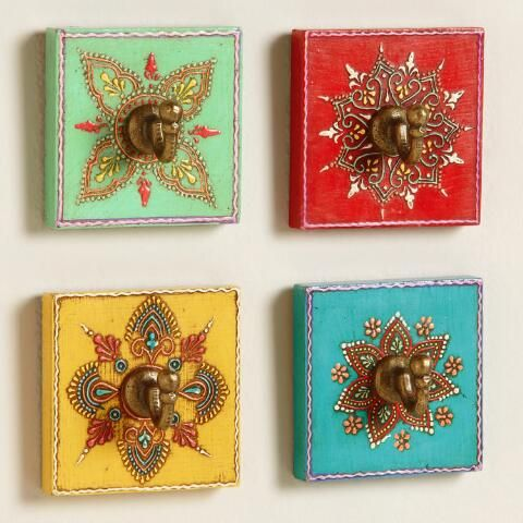 Painted Square Hooks, Set of 4 | World Market  https://www.worldmarket.com/product/assorted-painted-square-hooks-set-of-4.do?sortby=ourPicksAscend&from=fn