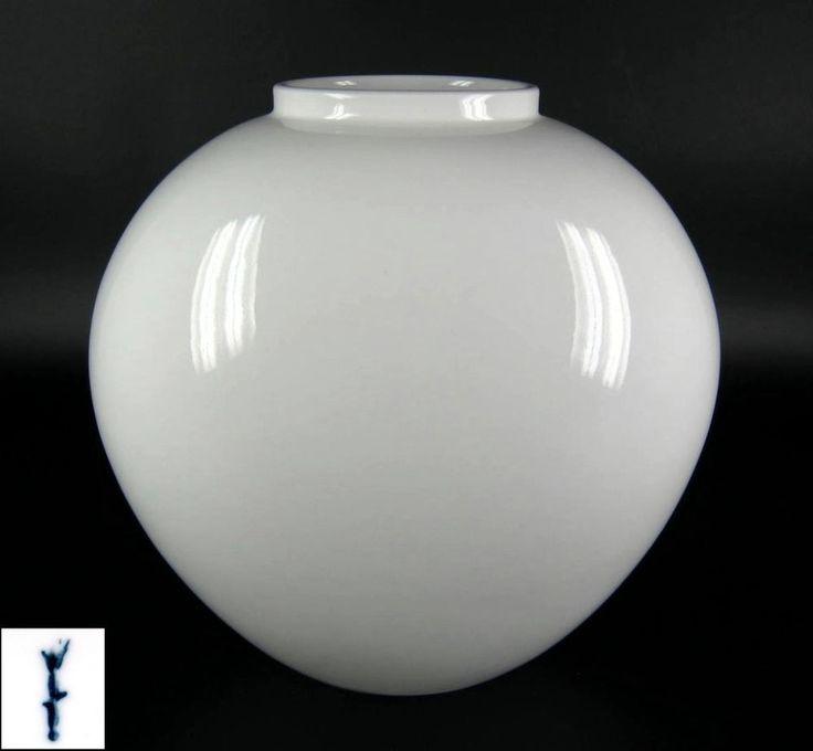 KPM Berlin Porzellan Vase weiss Trude Petri Entwurf Zepter 2. Wahl 19cm