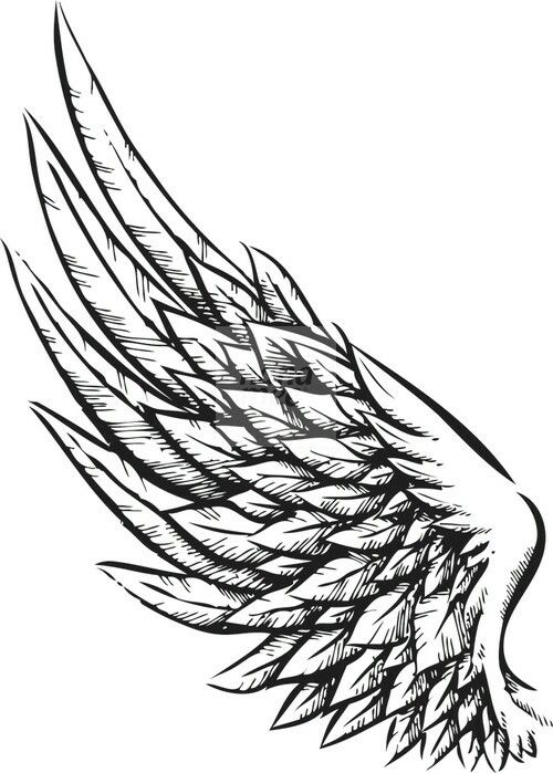 wing tattoo design