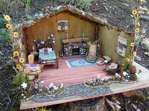 Fairy house Love the fireplace