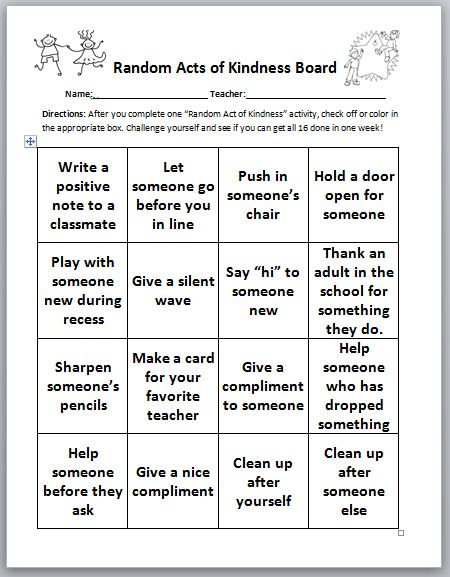 Promoting Random Acts of Kindness to Increase Positive Peer Relationships