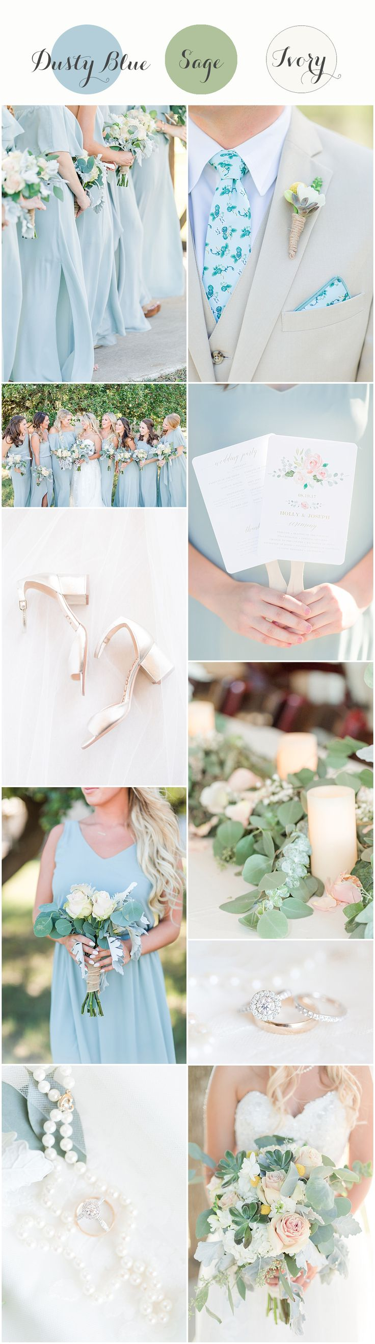 Dusty blue and sage wedding | Perfect for a spring wedding