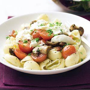 Recept - Pasta met spekjes en champignons - Allerhande