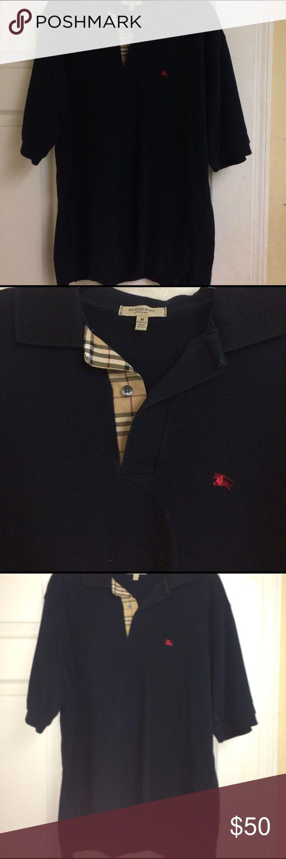 Burberry London Dress Shirt Dark Navy authentic Burberry dress shirt Burberry Shirts Polos