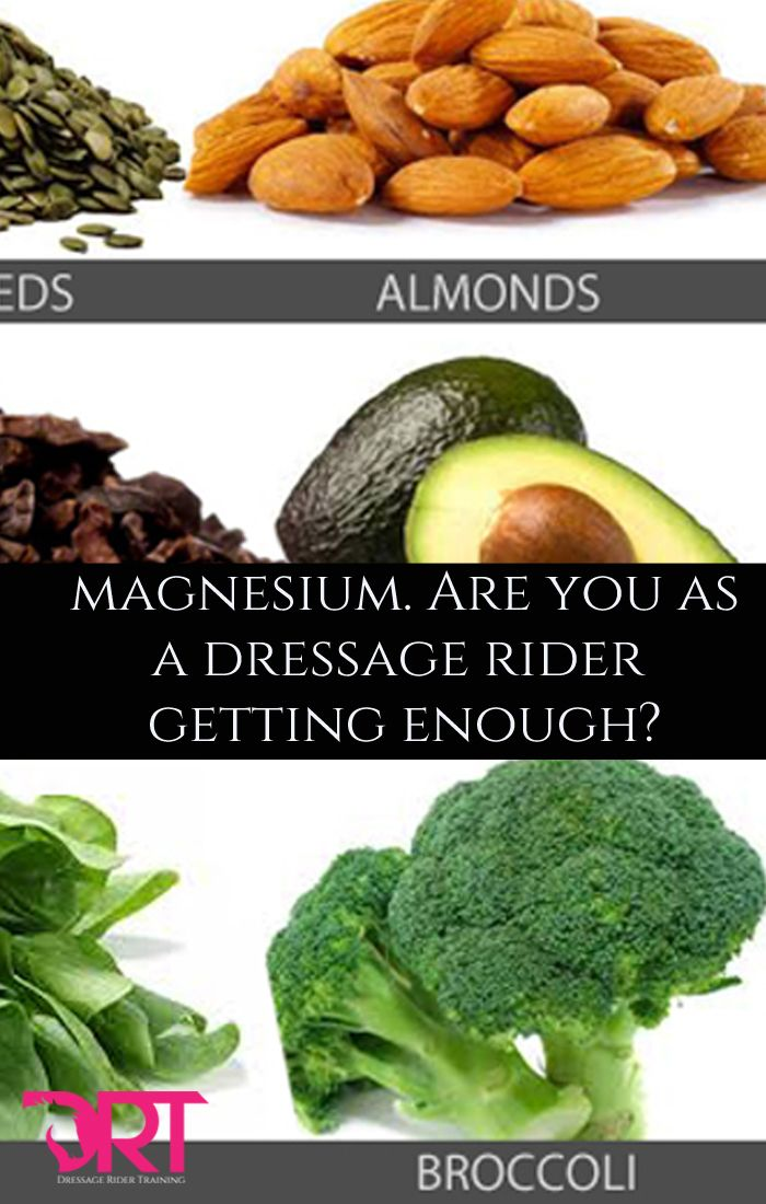 Magnesium, are you as a dressage rider getting enough?