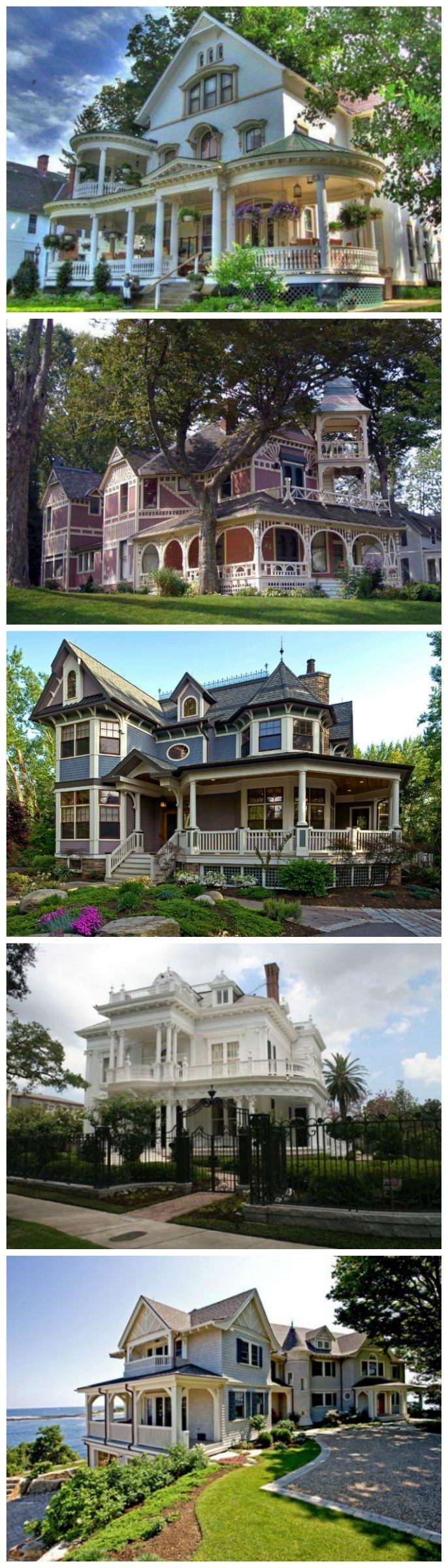 Victorian Style: Beautiful Home Design.  All beautiful but I choose the one overlooking the water!!