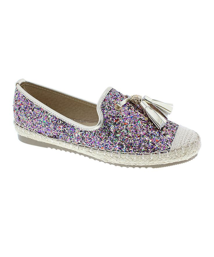 Look what I found on #zulily! Step Up Shoes Purple & Silver Sparkle Tassel Tommy Shoe by Step Up Shoes #zulilyfinds