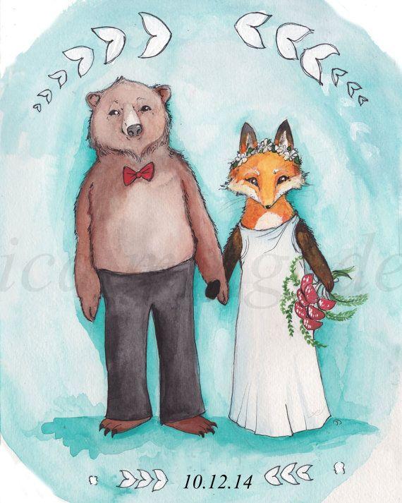 Картинка с лисой и медведем