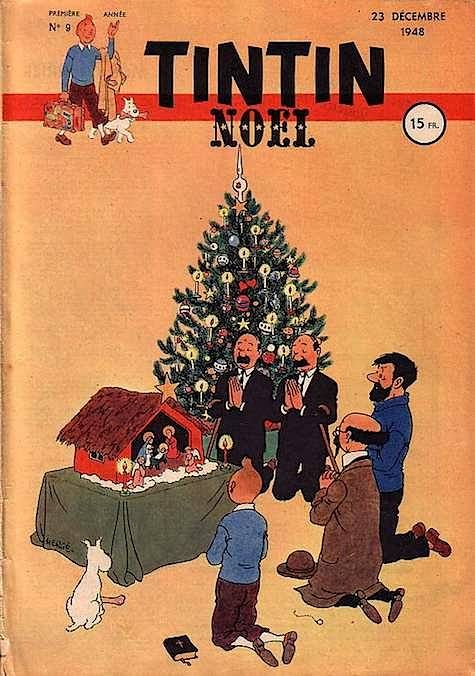 Journal of TINTIN French edition No. 9 of 23 December 1948 Hergé Merry Christmas* 1500 free paper dolls Christmas gifts at Arielle Gabriels The international Paper Doll Society also free China paper dolls The International Paper Doll Society *