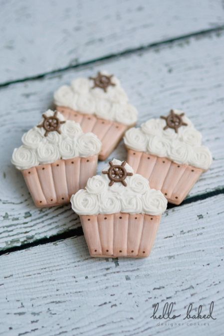 nautical cupcakes   hello baked