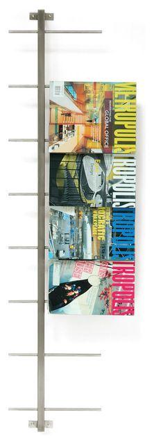 Gus Modern Stainless Steel Magazine Rack modern-magazine-racks