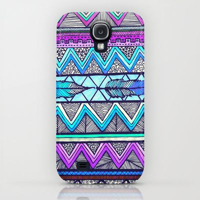 Two Feathers (color version 3) Samsung Galaxy S4 case by Lisa Argyropoulos
