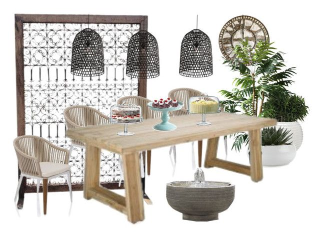 outdoor by ledesigns-1 on Polyvore featuring interior, interiors, interior design, home, home decor, interior decorating, TradeMark, Crate and Barrel and LSA International