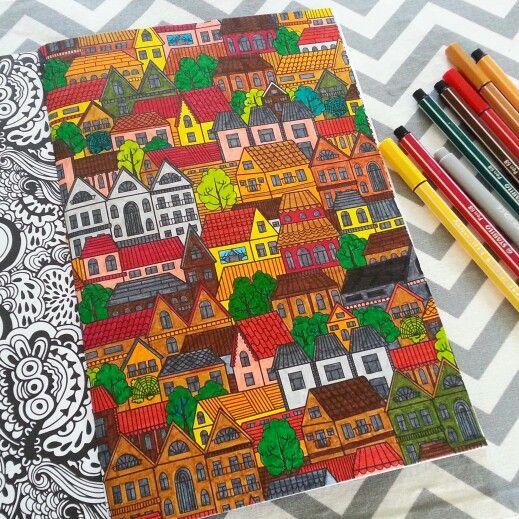 Het derde enige echte kleurboek voor volwassenen: huisjes
