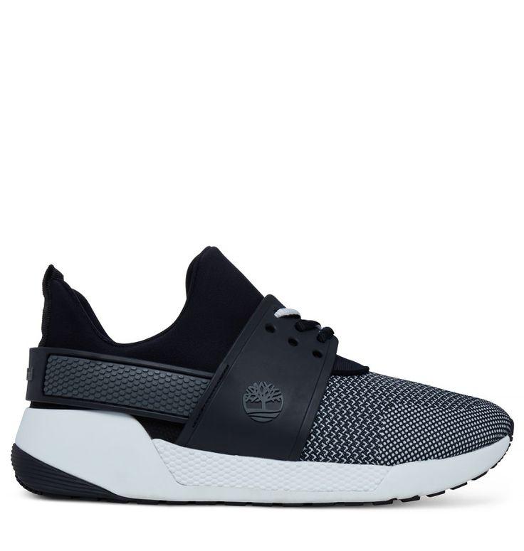 Réf : A1ML5  Vous garantissant un style très urbain, les Sneakers pour Femme Timberland Kiri Up Chukka Knitted en couleur noir et blanc ne quitteront plus vos pieds !