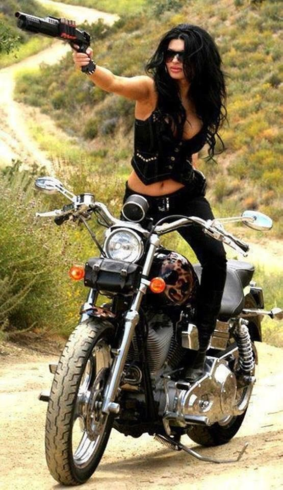 With gun guns and women pinterest - Pictures of chicks on bikes ...