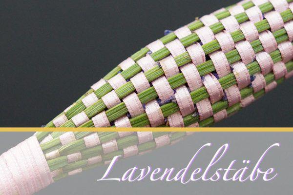 Lavendelstäbe weben