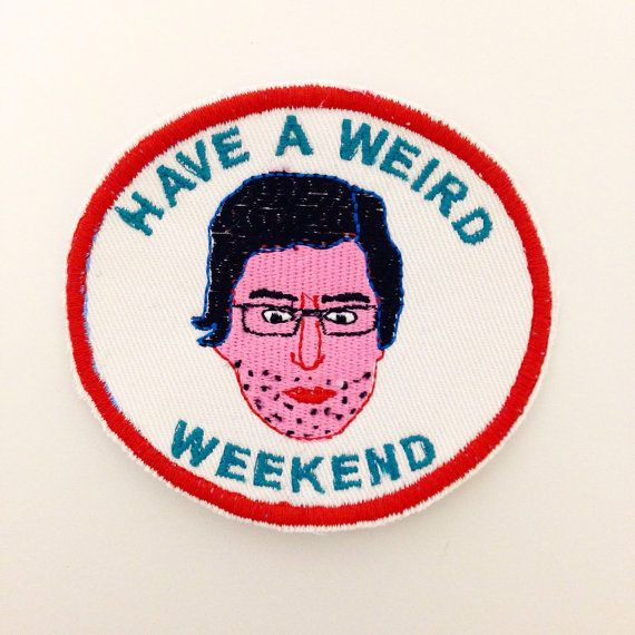 Louis theroux have a weird weekend iron on patch