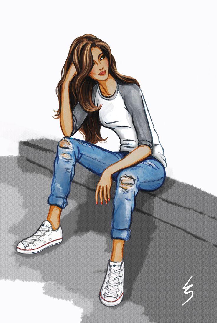Lydia Snowden Illustration: Boyfriend Jeans