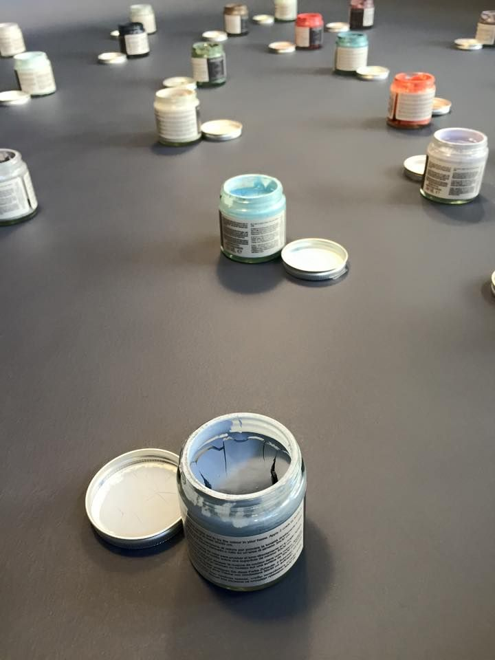 Sample pots by The Paint Makers Co.  Picture taken in The Paint Makers Shop brand store. 108 #colors for #design lovers.