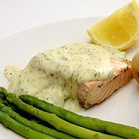 Awesome Broiled Salmon with Lemon Dill Sauce - Fresh is the key to a great fish dish.